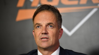 Back in business: Wests Tigers CEO Justin Pascoe has plenty to catch up on.