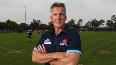New Waratahs coach Rob Penney arrived in Australia on Wednesday.