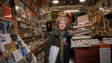 Warwick Brown has started hand delivering records and CDs to customers.