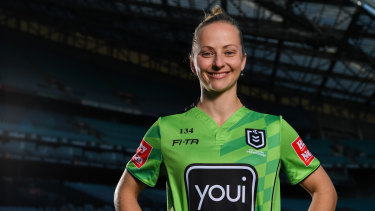 Trailblazer: Belinda Sharpe will co-referee the Brisbane-Canterbury match at Suncorp Stadium on Thursday night.