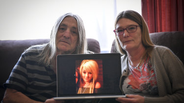 Grieving father Michael Dent and his partner Mary Burnell.