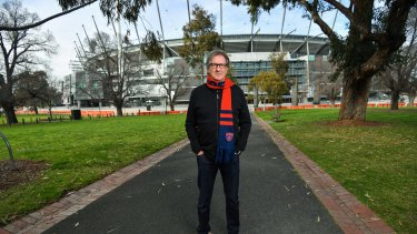 Former Melbourne footballer and MCC president Steven Smith at the MCG on Friday.