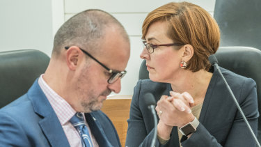 Chief Minister Andrew Barr signed off on Health Minister Meegan Fitzharris' planned ACT Health restructure in early March.