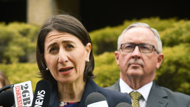 Premier Gladys Berejiklian announces her safety measures for music festivals on Wednesday.