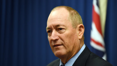 No regrets: Queensland senator Fraser Anning doubled down on his remarks at a press conference on Monday.