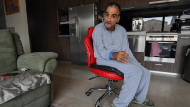 Christian Astourian, stranded in his apartment for four days after flooding stopped the lifts working.