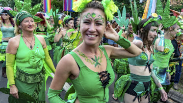 The Mardi Grass festival in Nimbin, which is targeted by police drug-driving detection units.