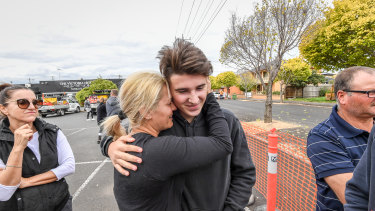 The Pace family were metres from being crushed by a crane which collapsed on their house.