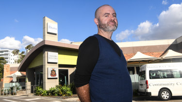 Stuart McDonald in front of the Darebin RSL earlier this year. The reformed gambler lives a short walk from the venue and opposed its expansion plan.