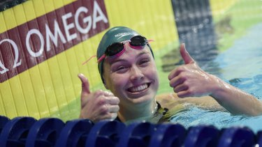 Minna Atherton has taken her swimming to a new level... but so has her American rival Regan Smith.