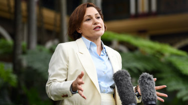 Jackie Trad says she is standing down from her ministerial duties amid a CCC probe.