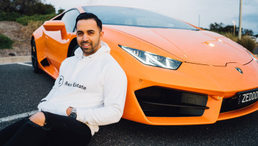 """I don't stop because I don't want to lose the lifestyle I have right now"":  Melbourne real estate agent Zed Nasheet."