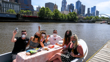 GoBoat has been fully booked all week as Melburnians take advantage of the sun and relaxed COVID-19 restrictions.