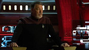 Jonathan Frakes as Riker in Star Trek: Picard, commanding the USS Zheng He.