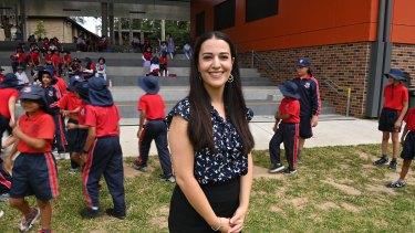 Chantel Mirzai, a teacher at Auburn Public, is one of the teachers chosen to give feedback on new syllabuses.