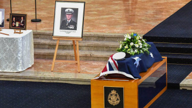 Mick Miller was farewelled at the Victoria Police academy chapel on Tuesday.