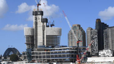 Crown's $2.4 billion hotel and casino at Barangaroo is due to open early next year.