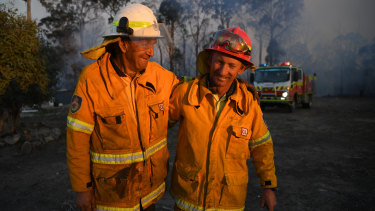 Bob and Greg Kneipp are father and son volunteers with NSW Rural Fire Service.