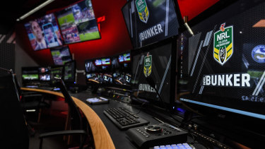 The NRL bunker is based at NEP Australia's headquarters in Sydney, as is the A-League's VAR booth.