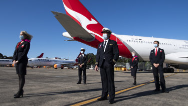 Qantas' international flying has been almost entirely paused during the pandemic, except for some essential repatriation and goods flights.