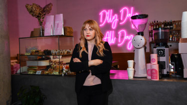 Melissa Glentis, owner of Dilly Daly cafe in South Yarra, says the rate rebate is a relief.