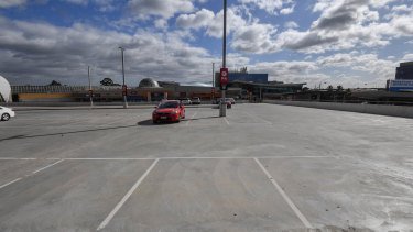 The Chadstone Shopping Centre car park at 10.30am on Friday.