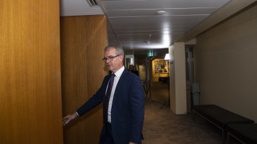 Labor MP Michael Daley ahead of a caucus meeting where he did not challenge for the leadership.