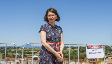 Premier Gladys Berejiklian at the site of the new Tweed Valley Hospital, in northern NSW, on Tuesday.