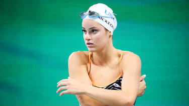 Kaylee McKeown is the world record holder in the women's 100m backstroke.