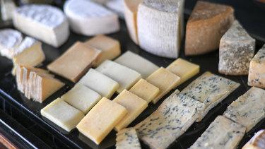 Vue de Monde's cheese trolley features local varieties from Tasmania to Queensland's Sunshine Coast.