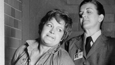 Joan Ferguson aka The Freak, with Bea Smith, played by Val Lehman in another Reg Watson creation Prisoner.