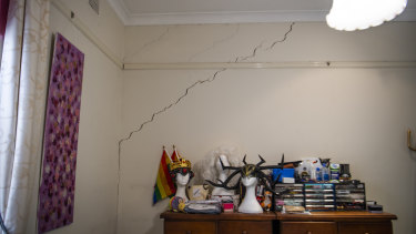 Another crack inside Stephanie Dennett's home.