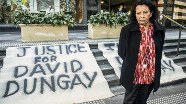 David Dungay's mother Leetona outside court on Tuesday.