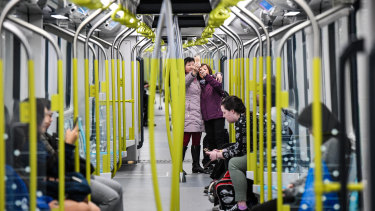 The metro line opened to passengers in May.