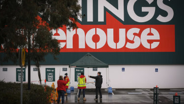 Bunnings, like other retail stores in Melbourne, is limited to click and collect services.