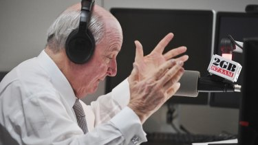 2GB shock jock Alan Jones.