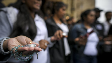 Ravi Harshana, the organiser of Monday's gathering at St Paul's Cathedral, said her community was grieving.