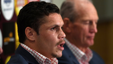 Unsettled: James Roberts could soon be reunited with former coach Wayne Bennett.