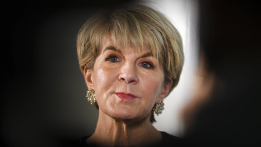 Former foreign minister Julie Bishop was given a pair of shoes by a company linked to designer Jimmy Choo.
