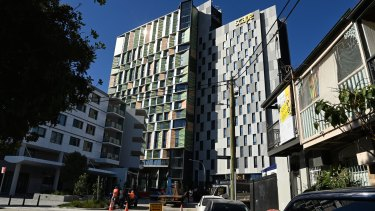 The Scape student accommodation development at The Block in Redfern is nearing completion.