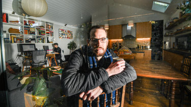 Michael Mazengarb and his partner wear jumpers, jackets, gloves and even blankets to stay warm in their Marrickville home.