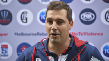 Melbourne Rebels coach Dave Wessels