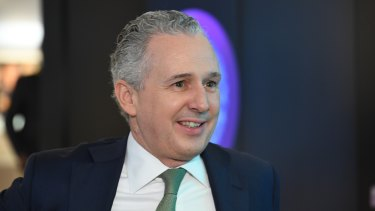 Telstra chief executive Andy Penn Penn on Monday said he was very happy doing what he was doing and had no plans to leave.