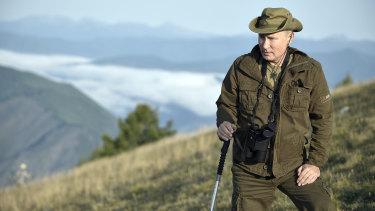 "Vladimir Putin in the Siberian Tyva region of Russia in his new weekly program ""Moscow. Kremlin. Putin""."