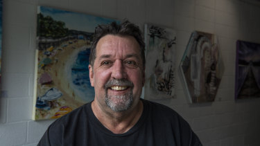 Wayne DeVenny at his Gallery 161 art studio, has just finished treatment for lung cancer.