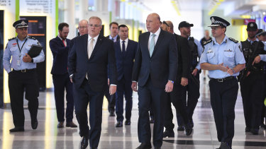 Scott Morrison said the additional airport security did not represent a change in Australia's terror threat level.