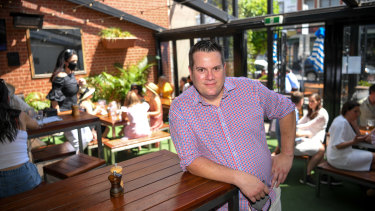 Swan Hotel general manager Cameron Johns at his Richmond pub on Tuesday.