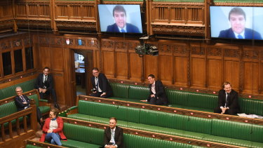 The UK Parliament has already used video screens to allow MPs to ask questions in the House of Commons.