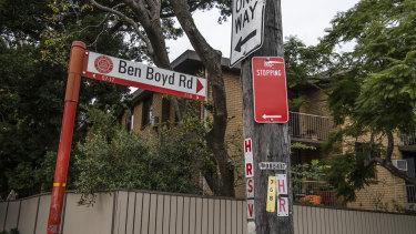 Ben Boyd Road signage, Neutral Bay.