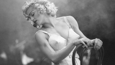 The many looks of Madonna include the infamous Blonde Ambition tour cone bra.